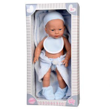 Baby Pop New Born Jongen Met Dekje