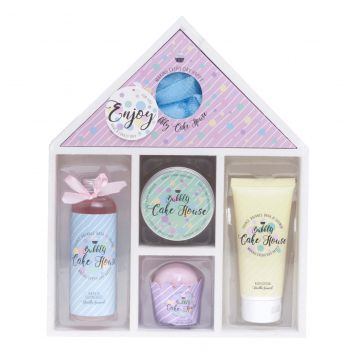 Bad Giftset Hout Bubble Cake House