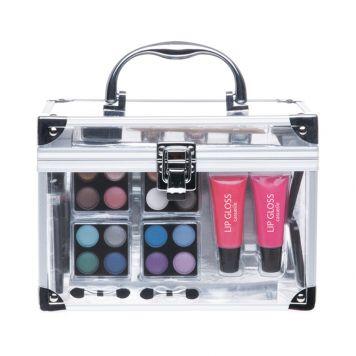 Make-Up Koffer Casuelle Doorzichtig Met Inhoud