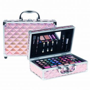 Cansuelle Make-up Koffer Roze Holografisch