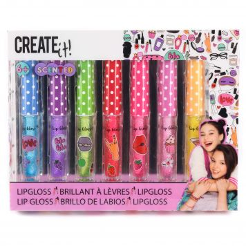 Create It! Lipgloss Set Glitter&Geur 7 Stuks