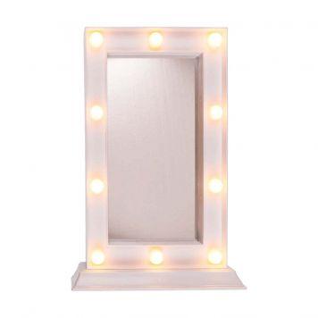 Make-Up Spiegel Met Led Licht 34X23 Cm