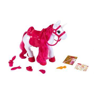 Paard Unicorn Verzorgingsset Met Licht En Geluid  36 Cm
