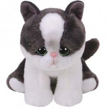 Ty Beanie Yang Kat Zwart Wit 15 Cm