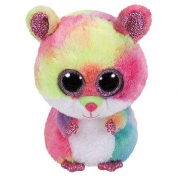 Ty Beanie Multi Kleur Hamster Rodney 24 Cm