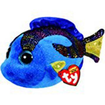 Ty Beanie Blauwe Vis Aqua 15 Cm