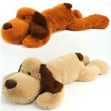 Pluche Hond Liggend 100 Cm 2 Assorti Pluchiez