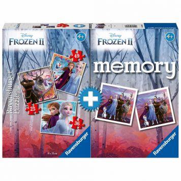 Spel Memory + Puzzel Frozen2