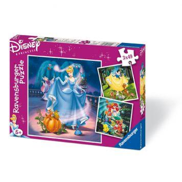 Puzzel Disney Princess 3 x 49 Stukjes