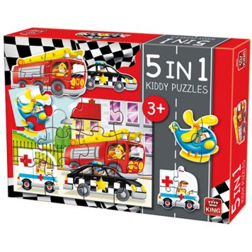 Puzzel Auto's 5-in-1