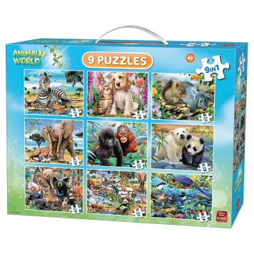Puzzel 9 In 1 Animal Puzzel Pack