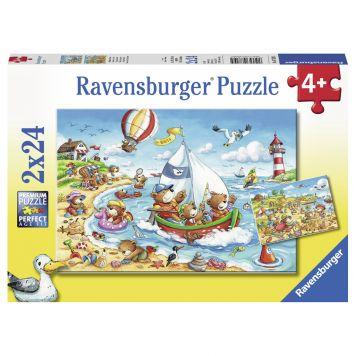 Puzzel Vakantie Aan Zee 2 x 24 Stukjes