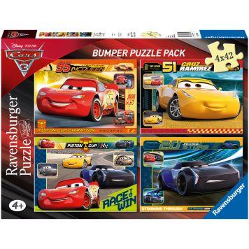 Puzzel Cars 3 4x42 Stukjes