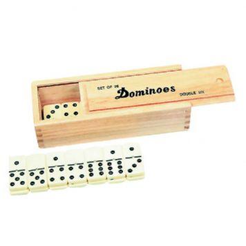 Spel Domino Dubbel 6 In Kist