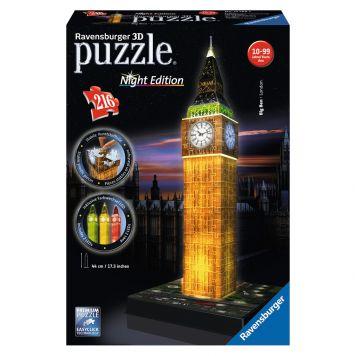 3D Puzzel Big Ben Bij Nacht