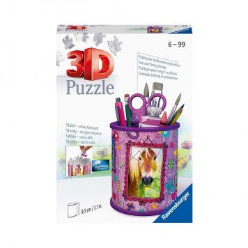 Puzzel 3D Pennenbak Paarden Rond