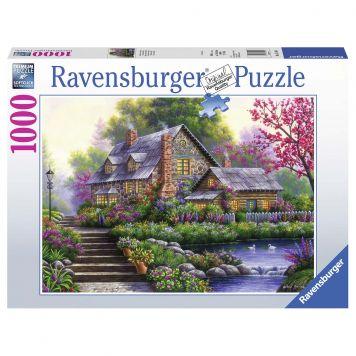 Puzzel Romantisch Huis 1000 Stuks