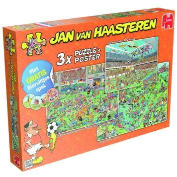 Puzzel Jan Van Haasteren Voetbal 3-in-1 Met Gratis Spel