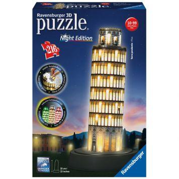 3D Puzzel Toren van Pisa Bij Nacht