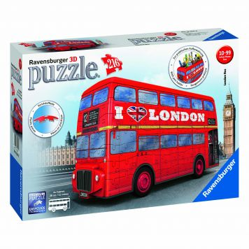Puzzel 3D London Bus Rood