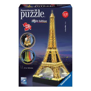 3D Puzzel Eiffeltoren Bij Nacht