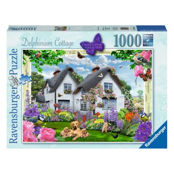 Puzzel Delphinium Cottage 1000 Stukjes
