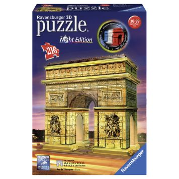 Puzzel 3D Arc De Triomphe Night Edition