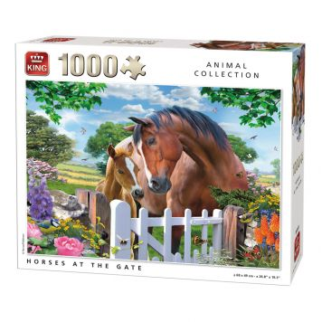 Puzzle Horses At The Gate