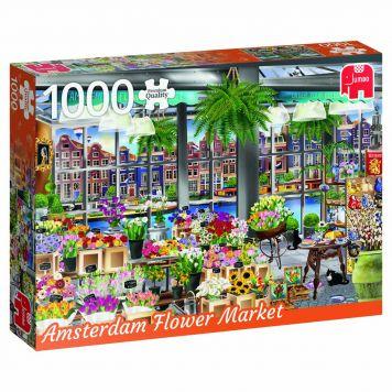 Puzzel Amsterdam Flower Market 1000 Stukjes