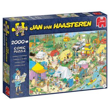 Puzzel Jan Van Haasteren Kamperen In Het Bos 2000 Stukjes