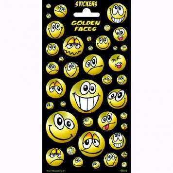 Stickers Gold Faces Twinkle