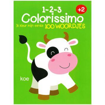 Kleurboek Colorissimo 2+ Ik Kleur Mijn Eerste 100  Woordjes