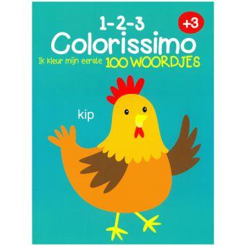 Kleurboek Colorissimo 3+ Ik Kleur Mijn Eerste 100  Woordjes