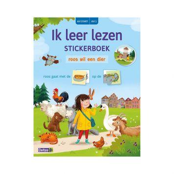Stickerboek Leer Lezen Roos Wil Een Dier AVI Start