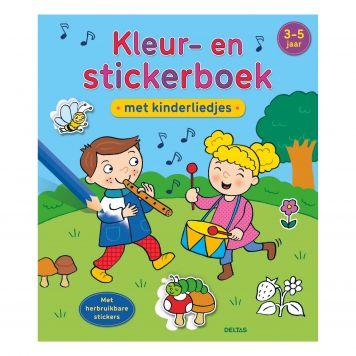 Superleuke Kleur- En Stickerboek Met Kinderliedjes