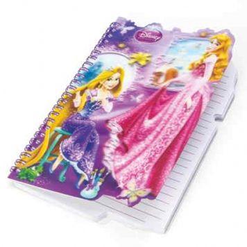 Notitieboek Disney Princess Met 3D Voorkant