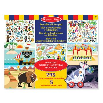 Stickerboek Groot Avonturen 35 X 28 Cm