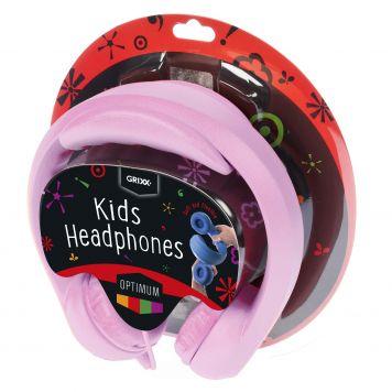 Grixx Kinderkoptelefoon Roze 85DB