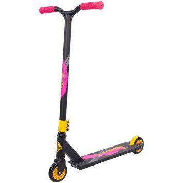 Step Stunt Scooter Antraciet / Geel / Rood