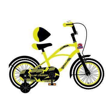 Fiets Cruiser Yellow 12 Inch