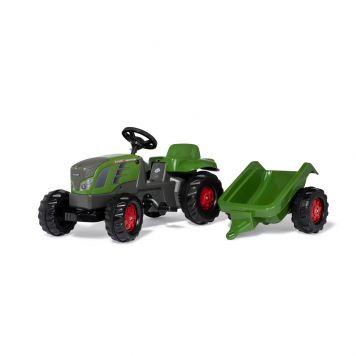 Tractor Fendt Vario 516, rollykid m. aanhanger.