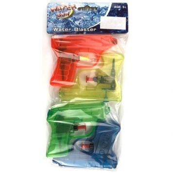 Waterpistool 10 Cm 4 Pack