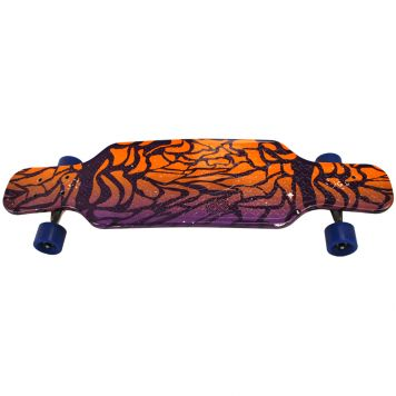 Skateboard Long Print 81Cm Assorti, ABEC7