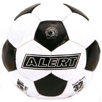 Voetbal Wit Zwart / Maat 5 / 340-360 Gr Alert