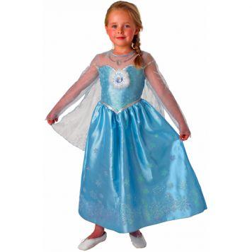 Verkleedset Frozen Elsa Deluxe Kind Maat L