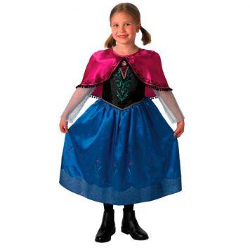 Verkleedset Frozen Anna Deluxe Kind Maat L