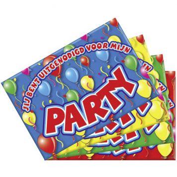 Uitnodigingen Party 8 Stuks