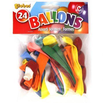 Ballon Vormen 24 Stuks Assorti