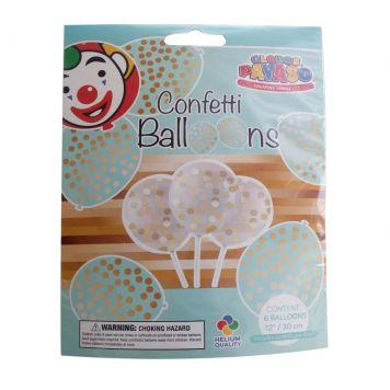 Ballon Transparant Met Confetti Goud