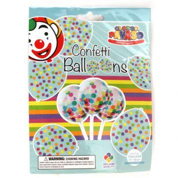 Ballon Confetti 6 Stuks 30 Cm